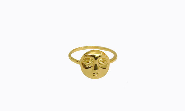 Eyland Phoebe moon ring - gold