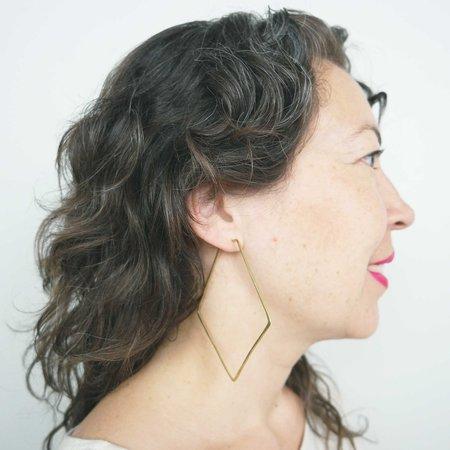 Essie Day Anyo Hoop Earrings - Brass