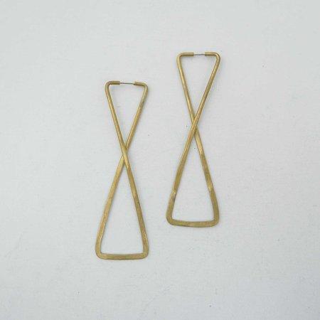 Essie Day Hiro Hoops Earrings - Brass