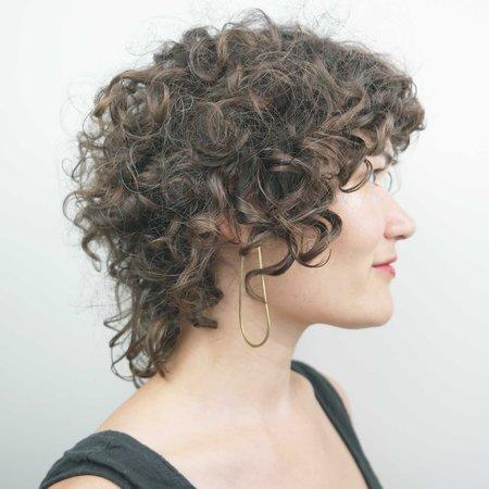 Essie Day Una Hoop Earrings - Brass