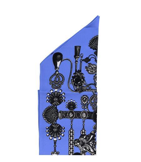 St. Piece Helen Silk Scarf - Blue