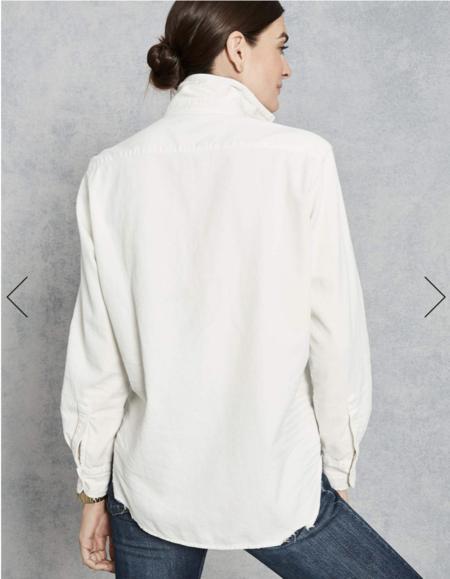 Frank & Eileen Eileen Tattered Denim Shirt - Vintage White