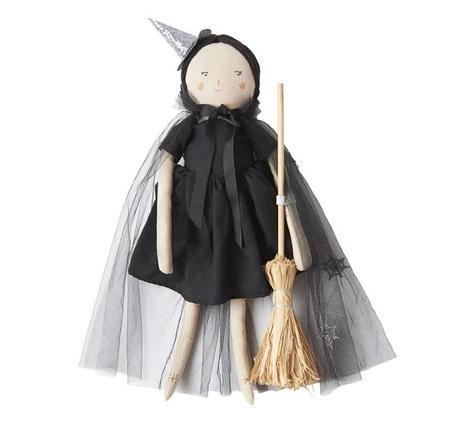 Kids meri meri Luna the Witch Doll - Black