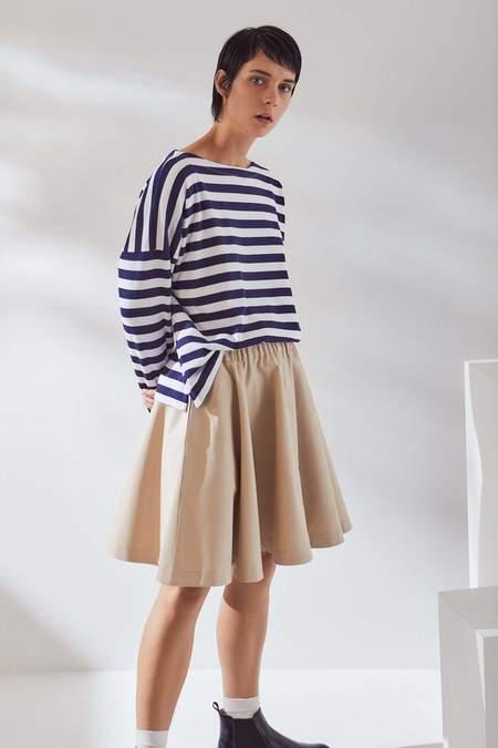Kowtow Circle Skirt - sand canvas