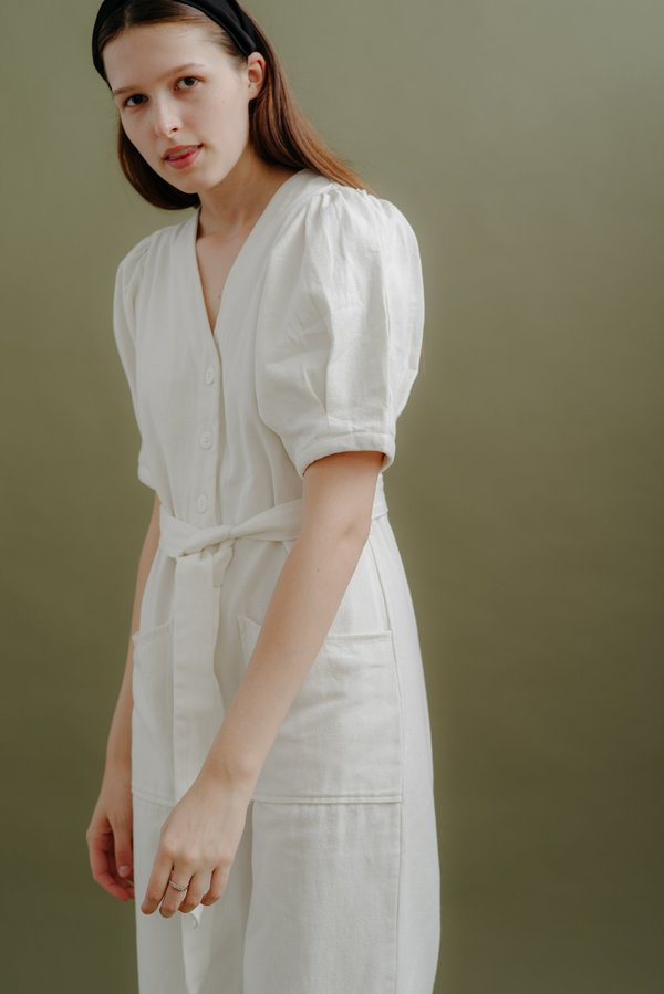 WRAY NORMA JUMPSUIT - WHITE