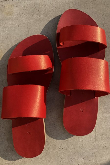 KYMA Delos Two Strap Sandal - Red
