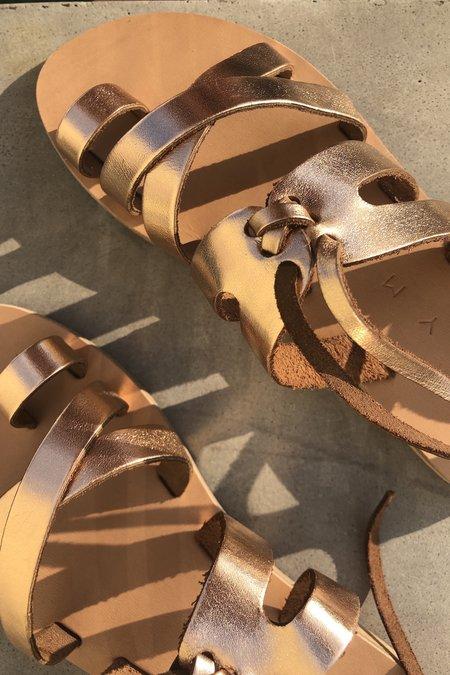 KYMA | Skiathos Strappy Sandal - Rose Gold