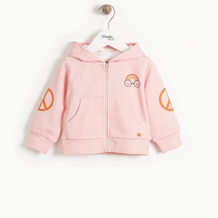 kids the bonnie mob donny pandas for peace hoodie - pink