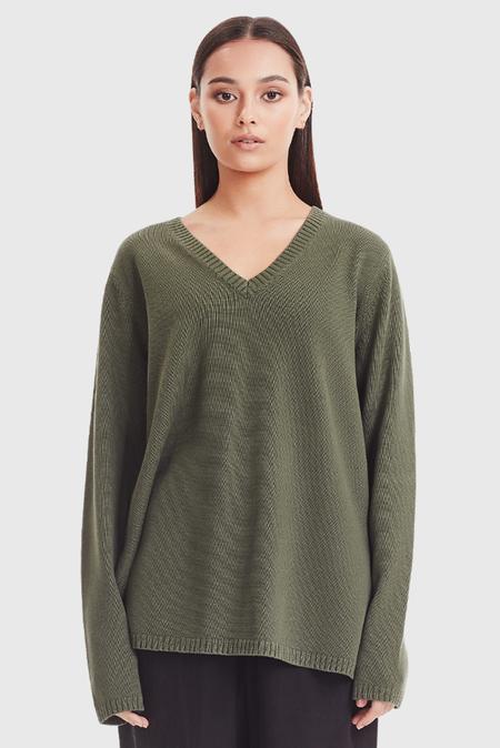 COMMONERS Oversized V-Neck Knit - Green