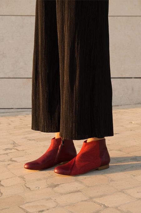 INLU Low-heel boots - Bordeaux/Crimson Red