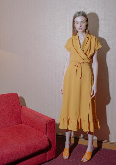 ENSEMBLE ORACLE WRAP DRESS - YELLOW