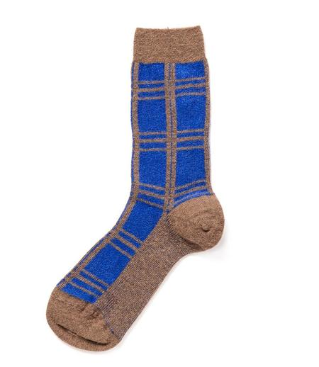 Alto Milano Noce Medio 125 News Socks - Blue/Brown
