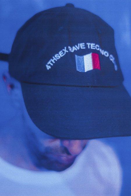 4THSEX French Rave Techno Club Dad Hat - BLACK