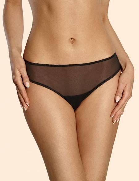 Ajour Frangelico lace back panties - Black