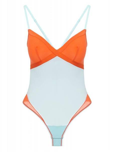 Cosabella Mixed Mesh-Ages bodysuit