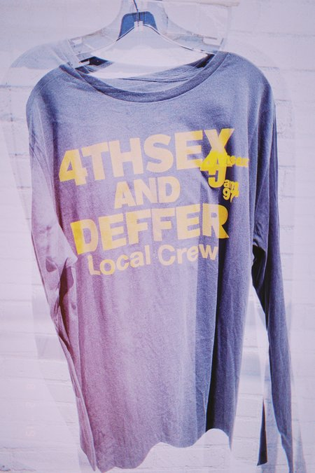 4THSEX AND DEFFER Local Crew Long Sleeve Tee