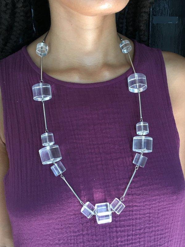 KC Vintage Pierre Cardin Lucite Necklace
