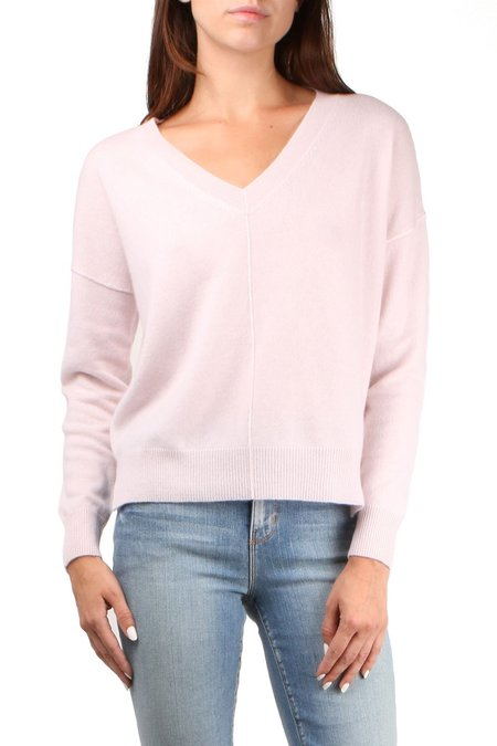 Allude V Neck Sweater - Dusty Rose