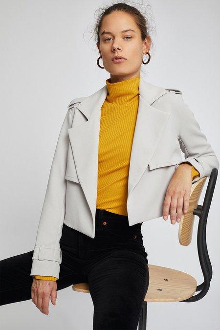 Dauntless Magda Crop Jacket - Light Grey