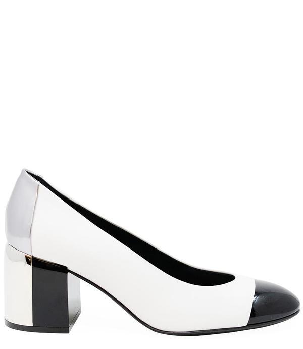Casadei Low Heel pump - Black/White
