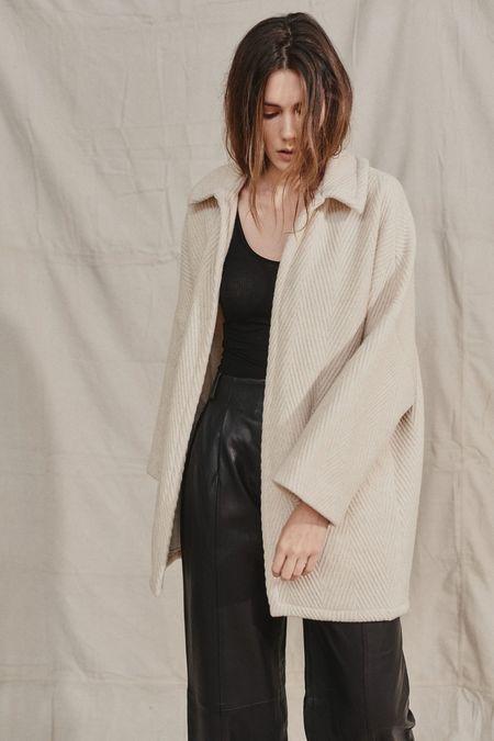 RACHEL COMEY HUSK COAT - Off White