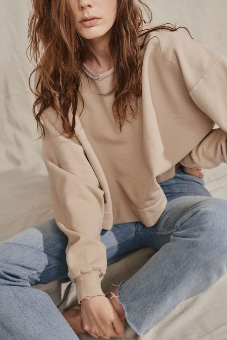 RACHEL COMEY MINGLE SWEATSHIRT - BEIGE