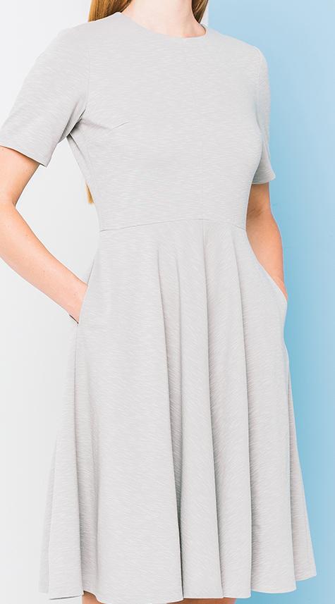 Obakki Variegated Knit Flare Dress