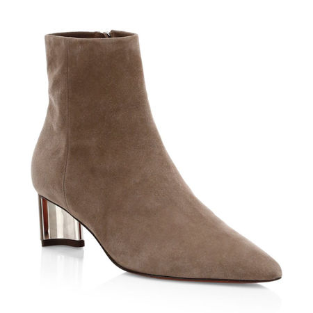Robert Clergerie Clergerie Secret Suede Point Toe Booties - Oat
