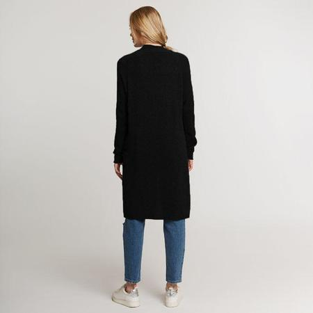Autumn Cashmere Maxi Open Cardigan - Black