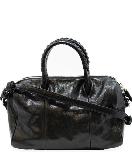 Cornelian Taurus Black Leather Boston Bag