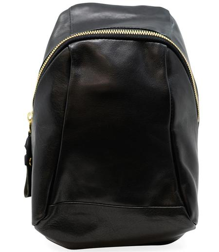 Cornelian Taurus Black Leather Turtle Shoulder Bag