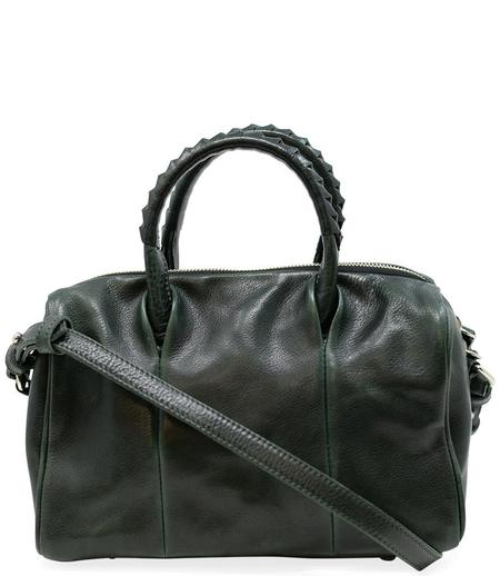 Cornelian Taurus Green Leather Boston Bag