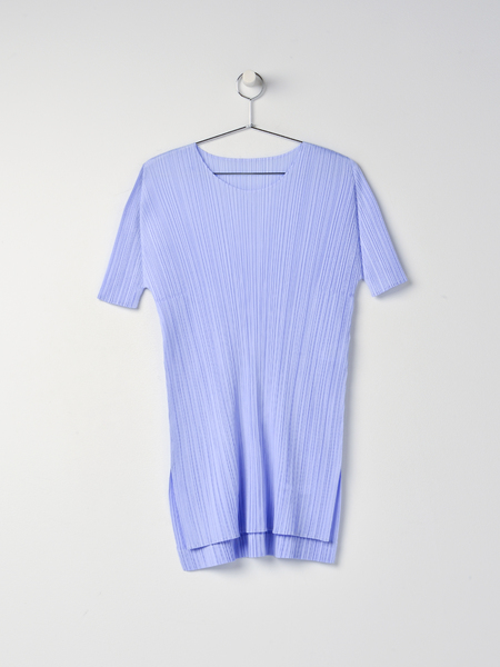 Pleats Please Issey Miyake Monthly Colors Top - Pale Blue
