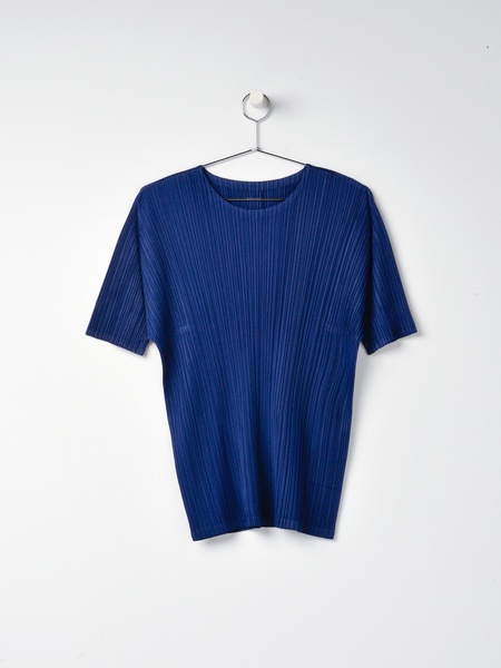 Pleats Please Issey Miyake Monthly Colors Top - Navy