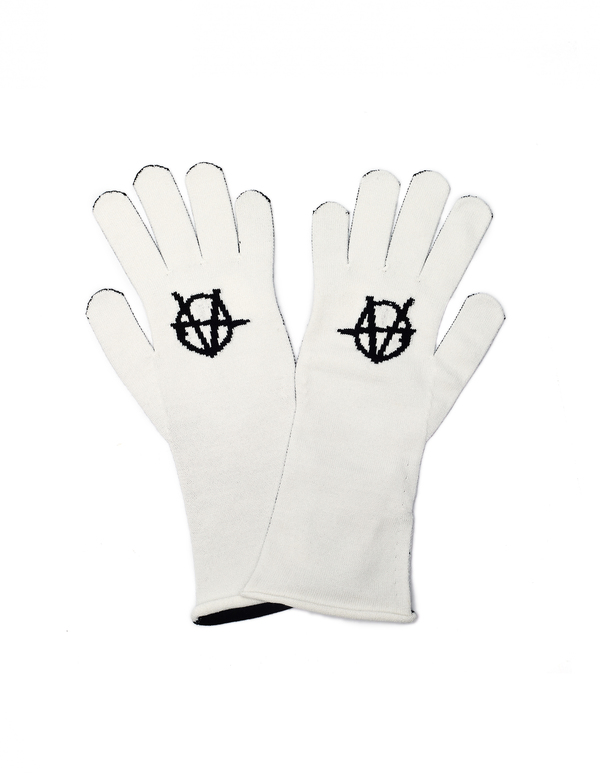 Vetements L.O.L. Gloves - Black/White