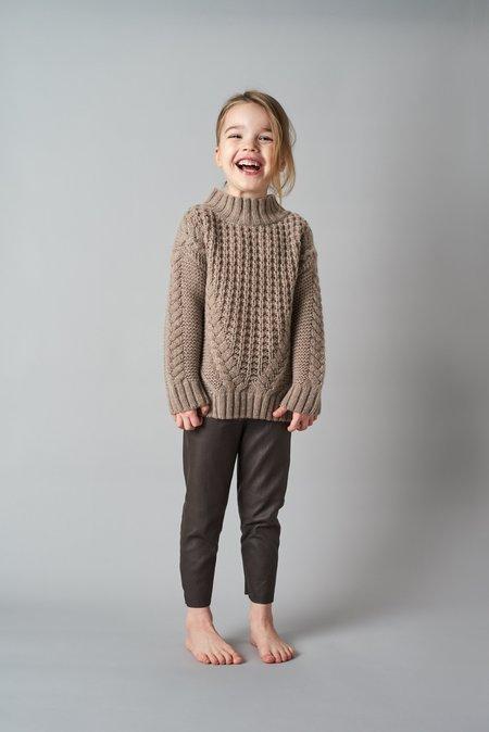 KIDS Belle Enfant Cable Knit Sweater - Hazelnut