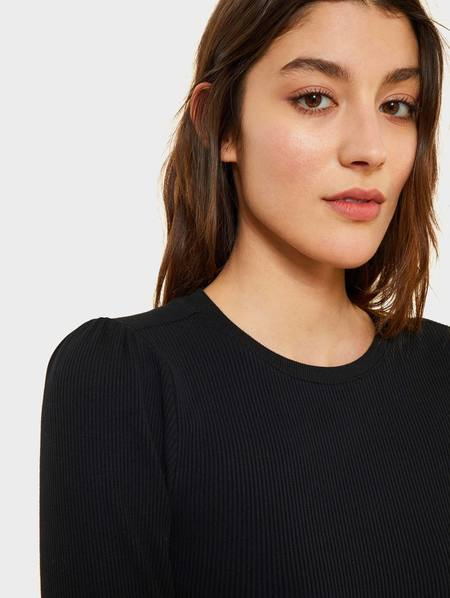 Kinly Rib Knit 3/4 Crew Top