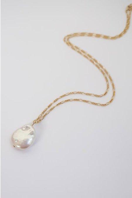 AA Studio Figora Pearl Necklace - Gold