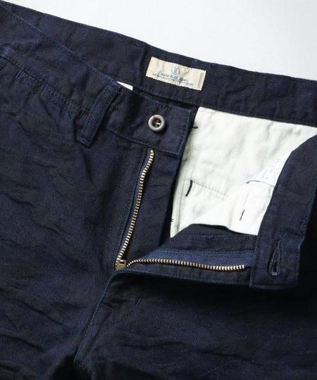 Japan Blue Jacquard Camo Shorts - Indigo