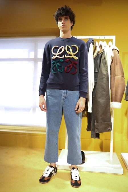 LOEWE Anagram Cut Sweatshirt - Navy Blue