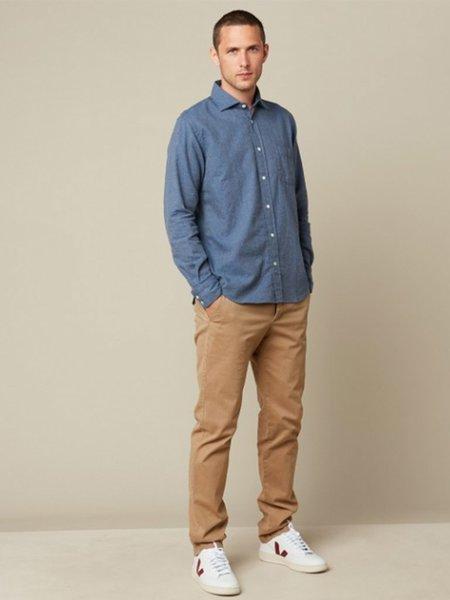 Hartford Paul Shirt - Blue