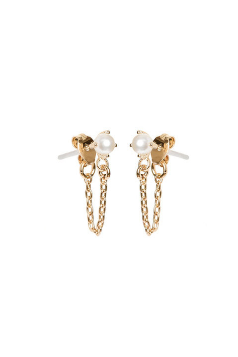 Bing Bang NYC Pearl Continuous Earrings