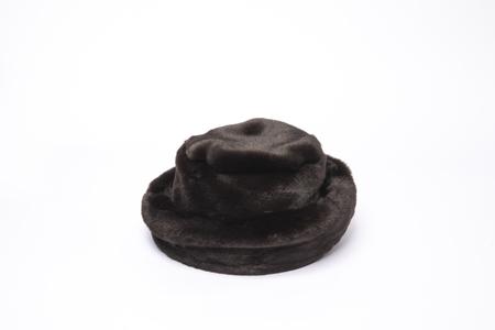 Clyde Fur Bucket Hat in Espresso Mink