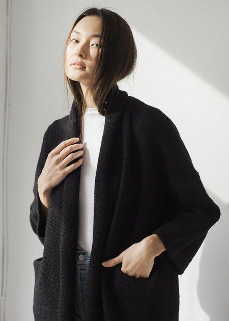 Bare Knitwear Baby Alpaca Coat - Black