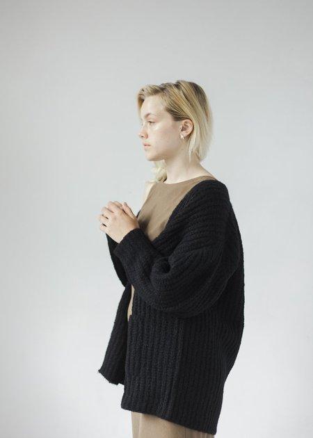 Bare Knitwear Marine Cardigan - Black