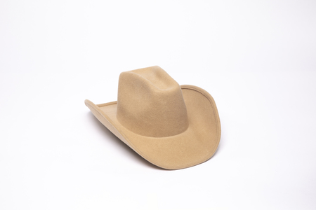 Clyde Cowboy Hat in Camel Wool