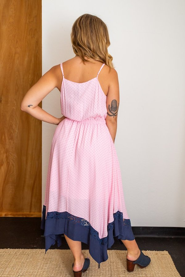 Just Female Dottted Dress - Pink