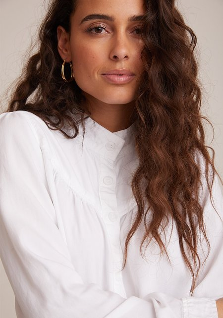 Bella Dahl Button Front Prairie Shirt - White