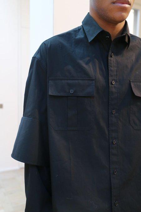 JW ANDERSON Double Cuffs Shirt - Black