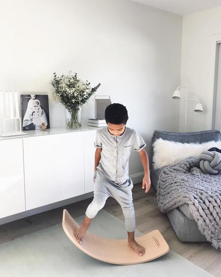 KIDS Wobbel Board - Light Grey Felt Base